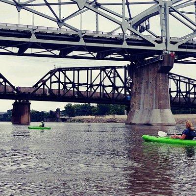 Kayaking the Missouri River at Kansas City