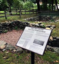 The site of the original Salem Village Parsonage.