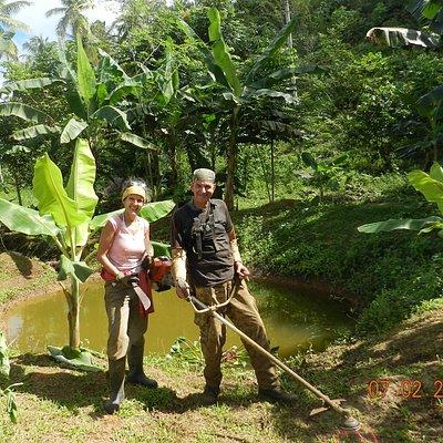 Nosotros, Nora Lis y Paolo somos los fundadores y motores de este proyecto ecológico en Samaná