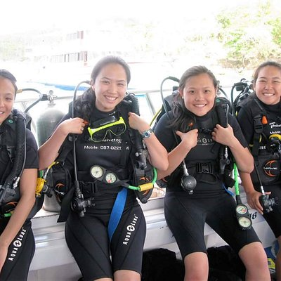 4 divers who had a great experience