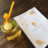 A cool drink and the menu!