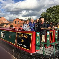 The four of us setting out on the Ashes Lark from Worchester marina.