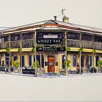 A drawing of the Brewhouse by the talented Helen Wilding