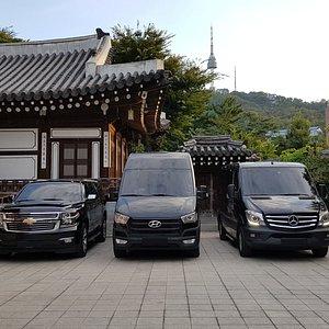 Private chauffeured transportation service in Korea.