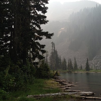 Radium Lake (Smoky from Forest Fires)