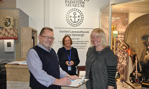 6.10.2018 first visitors through the door at the New premises of Padstow Museums opening