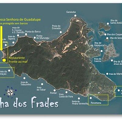 Passeio de escuna para Ilha dos Frades. Viração. Paranama. Loreto. Restaurante em praia privativ