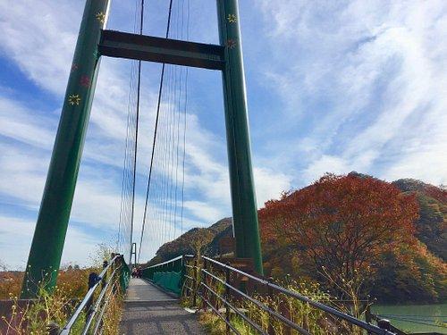 大吊橋と紅葉