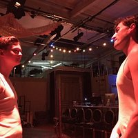 The Paradise Circus rehearsals Joshua Ward & Sam Coulson pictured
