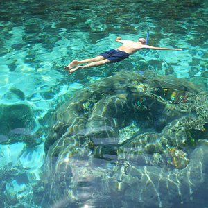 Clean water for snorkelling