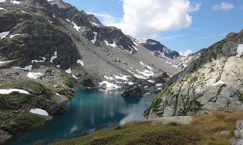 Perfect lake for a swim