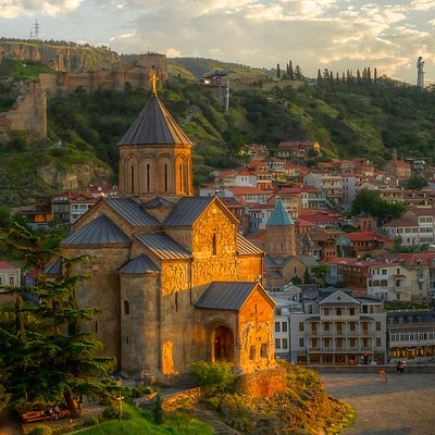 Tbilisi is the capital of the country of Georgia. Its cobblestoned old town reflects a long, com