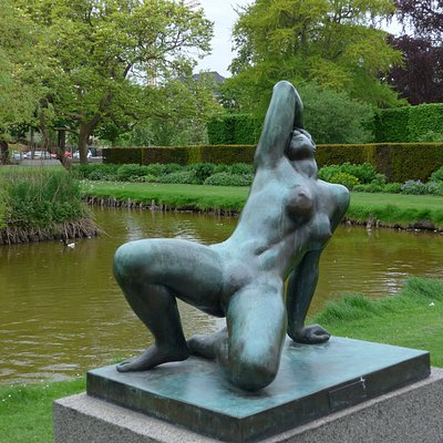 Odense, Danae by Gerhard Henning 1927 in the Kings' Gardens (Kongens Hav)