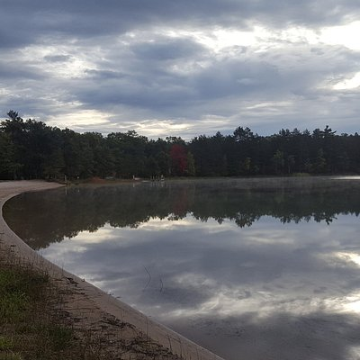 October sky reflection on the lake