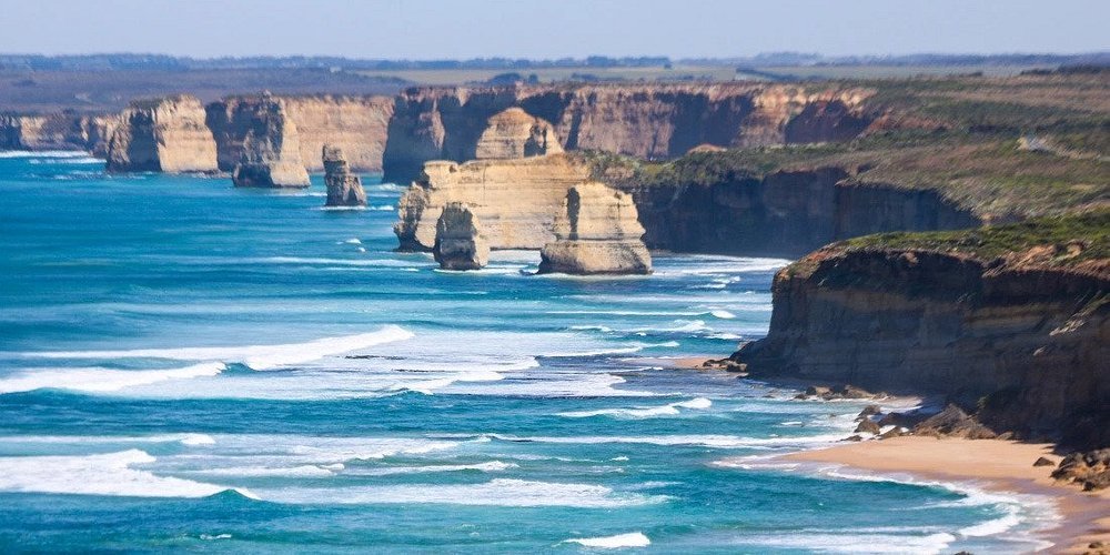 The 12 Apostles at the end of the Great Ocean Walk