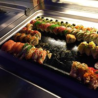 The sushi as part of the buffet