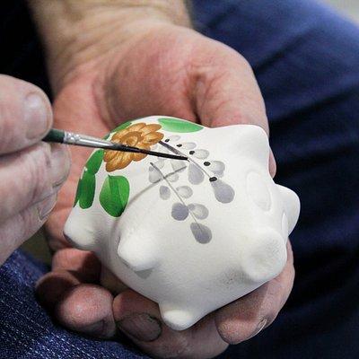 Można zobaczyć jak artyści wykonują swoje produkty