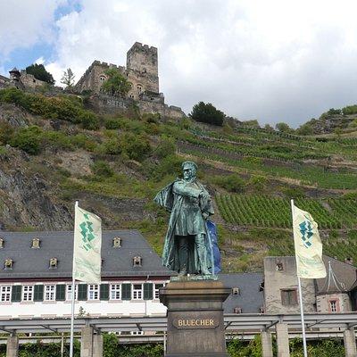 Escultura del que fue el héroe de Kaub por no dejar pasar a las tropas de Napoleón