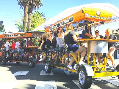 We have 5 Brew Bikes for groups as large as 75 people.