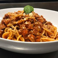 Our delicious spaghetti bolognese!