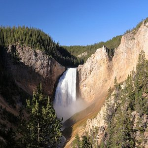 View from Red Rock Point, Yellowstone National Park.