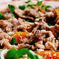 Beef With Watercress Pizza