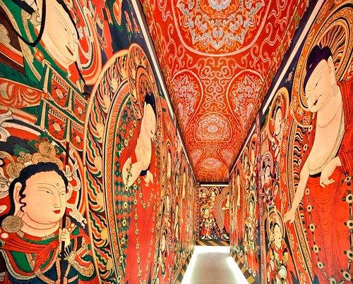 ベゼクリク石窟大回廊復元展示