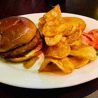 Veggie Burger with Chips