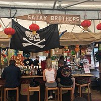 Satay brothers at marché Atwater (May-Oct)