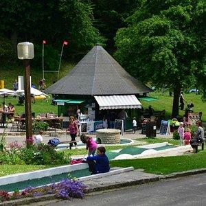 Minigolf at Parc des Petits Diables
