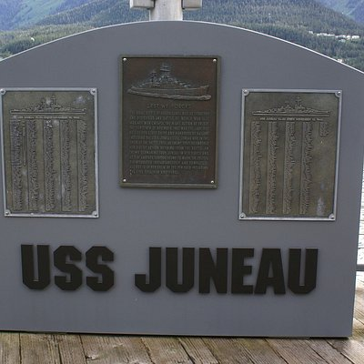 Revised USS Juneau memorial in 2017 (Wikipedia photo)