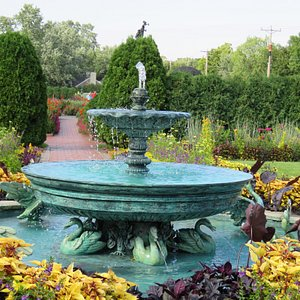 Fountain and flowers