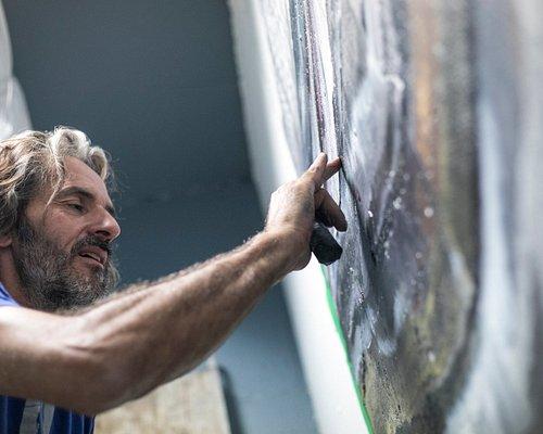 Boris Pintado à l'oeuvre