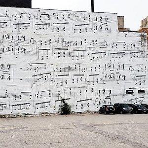 Music Wall, Minneapolis, MN, Sep 2018
