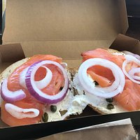 Salmon, Bagels, Cream Cheese & Capers