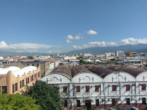 View of Kingston from the roof of the conference centre car park.