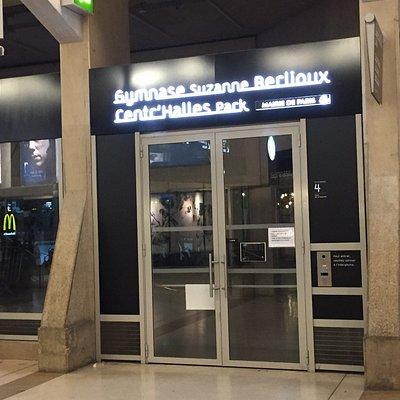 Centr'Halles Park : entrée commune avec Gymnase Suzanne Berlioux