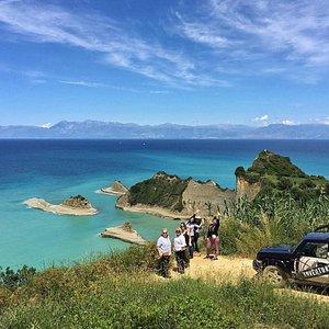 Cape Drastis, Grouptour, Jeepsafari, Corfu, greece
