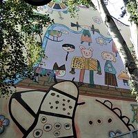 La fresque sur l'immeuble