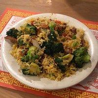 Shredded pork with Broccoli, and pork fried rice