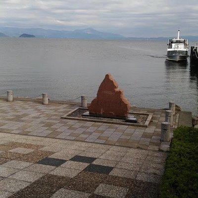 竹生島は見えている距離