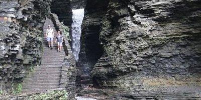 Watkings Glen, on the trail of waterfalls.