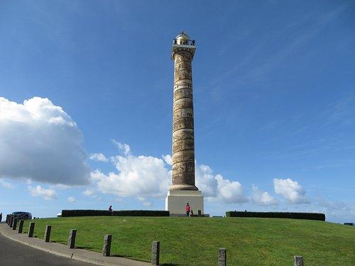the column from a little ways away