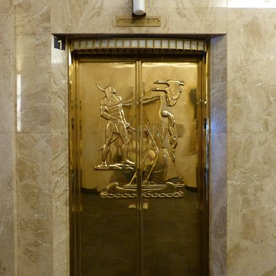 Elevator doors at City Hall, St. Paul, MN