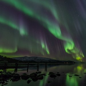 Fantastic lights over the sea!