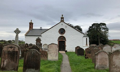 Ruthwell Church that holds the cross