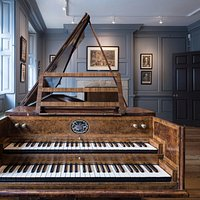18th century harpsichord at Handel House. Still used for rehearsals every week.