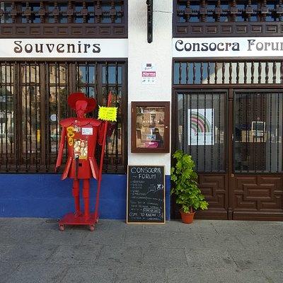 Consocra Forum, en la plaza de España, el centro de la localidad de Consuegra