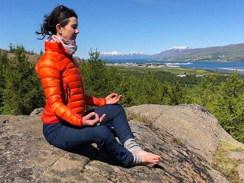 Yoga on the cliffs