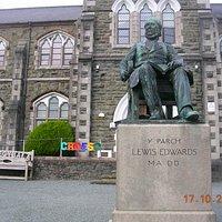 Rev. Lewis Edwards Statue (Bala College)
